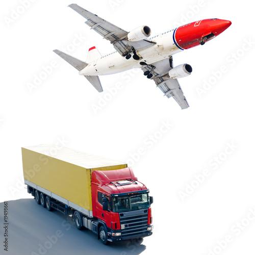 Plane Truck transportation