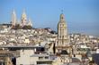 Sacré coeur vu des toits de Paris