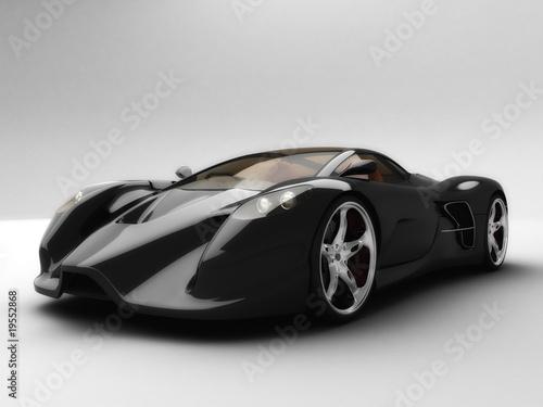 Foto-Doppelrollo - Super Black Sport Car front View (von CenturionStudio.it)