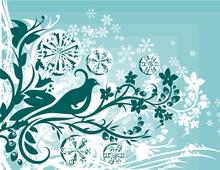 Winter Ornamental Background