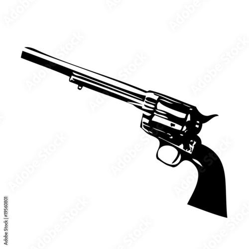 Fotografie, Obraz  Revolver, The non-Smoking Gun