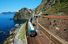 Manarola Village And Train Sta...