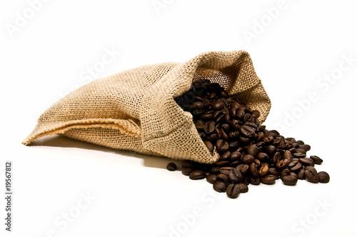 Deurstickers koffiebar Saco de café