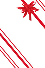 Red Ribbons And Bow