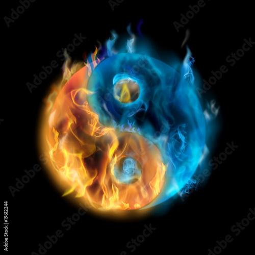 Doppelrollo mit Motiv - yin-yang (von mens_divinior)