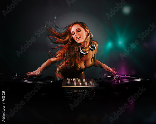 Foto  Beautiful DJ girl