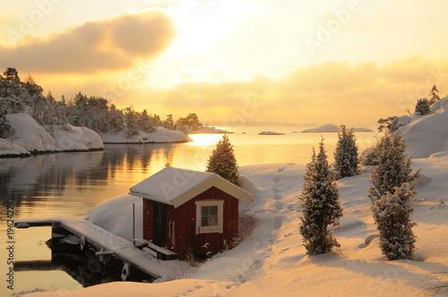 Foto auf Acrylglas Stockholm La luz en invierno