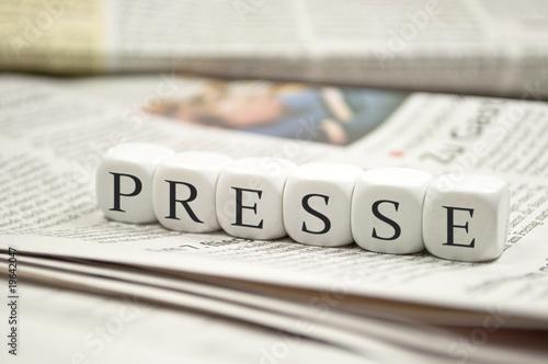 Canvas Print Presse mit Zeitungen