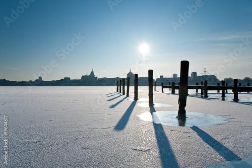 Fotografía  Winterstimmung im Hafen in Rostock 2