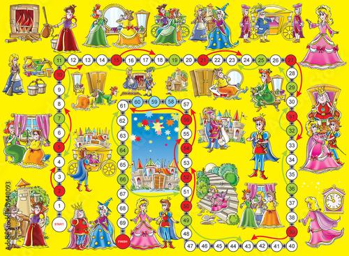 "Fotografie, Obraz  Board game ""Cinderella"""