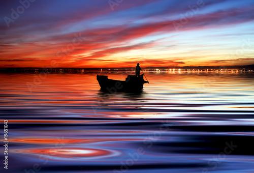 Fényképezés  la barca en el mar