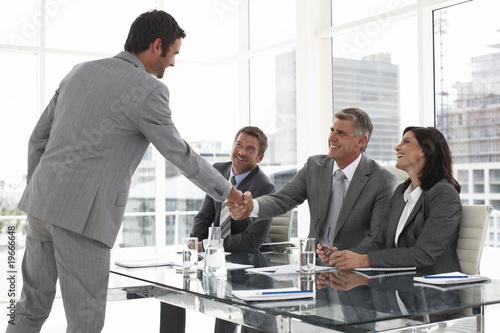 Fotografía  At a job interview