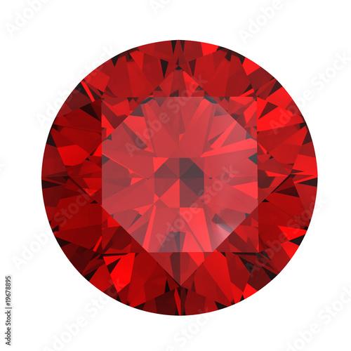 Fotomural Red round shaped garnet