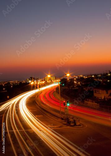 Keuken foto achterwand Nacht snelweg Movement
