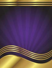 Elegant Purple And Gold Backgr...