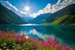 canvas print picture - Lago di Vernago 2