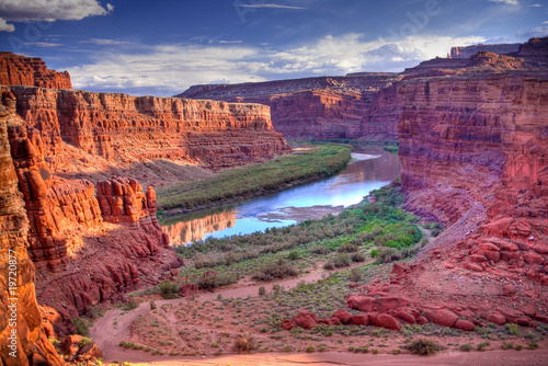 In de dag Natuur Park Colorado River at Canyonlands National Park