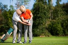 Golf Training Auf Dem Platz