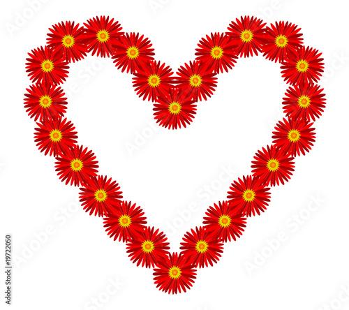 Coeur Je Taime Fleurs Déclaration Amour Saint Valentin