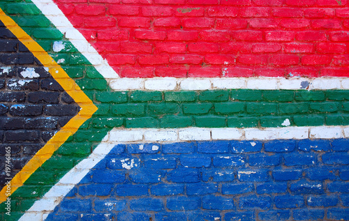 Poster Afrique du Sud Flag South Africa