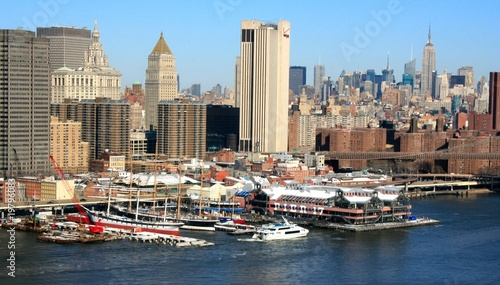 Fotobehang Peking South Street Seaport aus der Luft