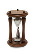 Hourglass on white with soft shadow