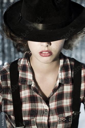 In de dag Illustratie Parijs beauty girl