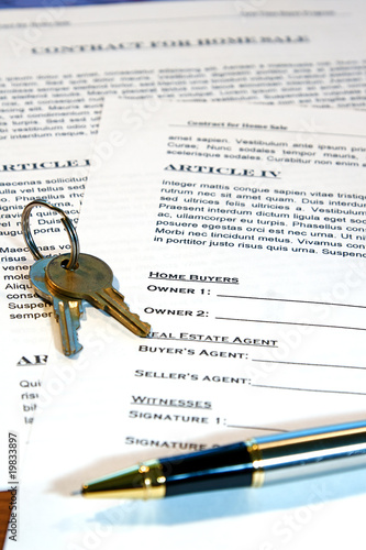 Contract Of Home Sale  Buy This Stock Photo And Explore Similar
