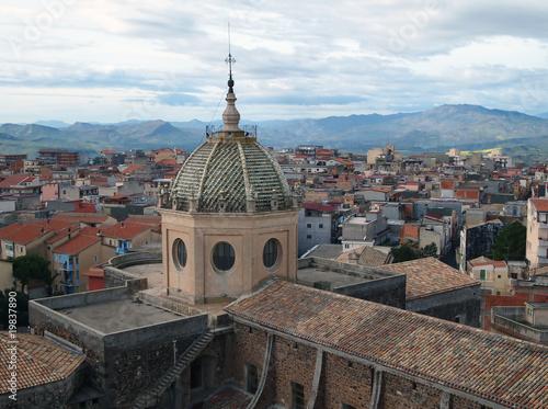 Obraz na plátne Dome of Adrano Mather Church in Sicily