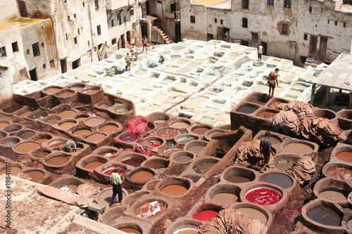 Poster Maroc conceria di Fez, Marocco