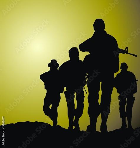 Deurstickers Militair soldiers vector illustration
