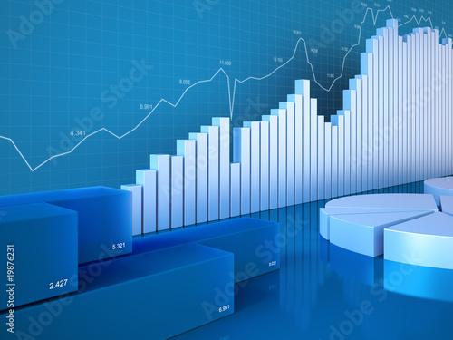 Fototapeta Statistics charts (Graphs, charts, statistics and reporting seri obraz