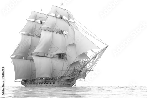 Tablou Canvas United States Frigate