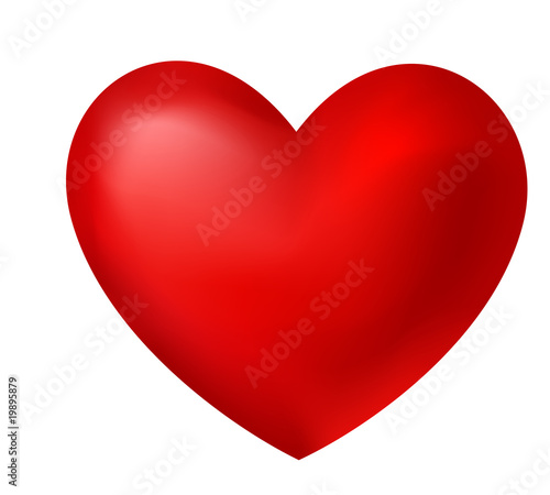 Canvas Print red heart