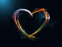 Postcard Heart Valentine's Day, Graffiti
