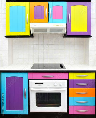 cuisine design colorée – kaufen Sie dieses Foto und finden ...