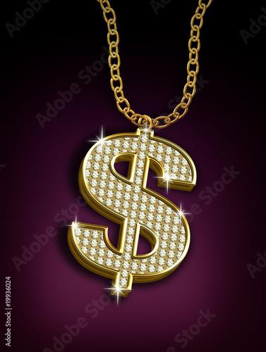 dolar + diamantes Canvas-taulu