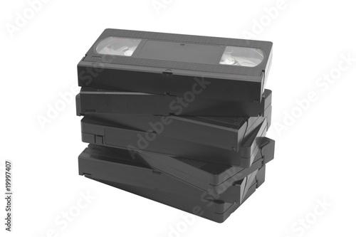 Valokuva  Pile of videocassettes