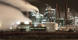 Petrochemical plant by night