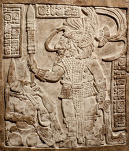 Old Mexican Relief Carved In Stone
