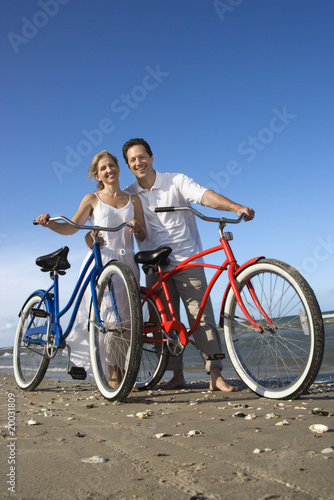 With Bikes At The Beach