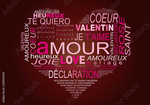 Coeur Mots Fond Chocolat V10 Buy This Stock Vector And