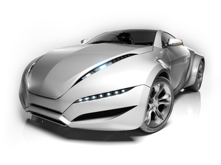 Sports car  isolated on white