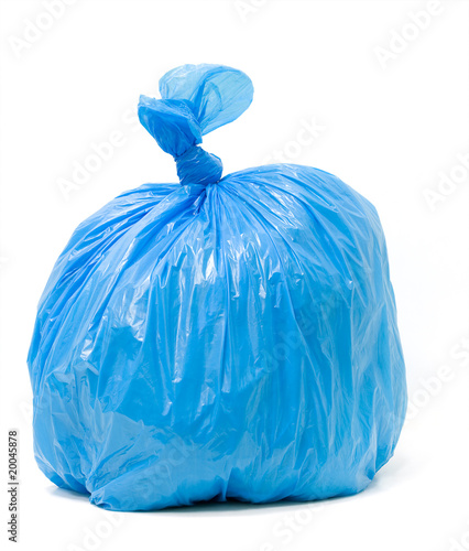 Fototapety, obrazy: Blue trash bag