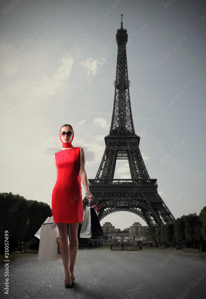 Fototapety, obrazy: Shopping in Paris