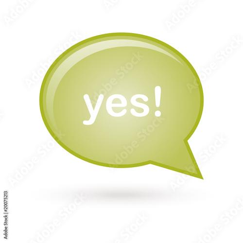 Photo  yes vert