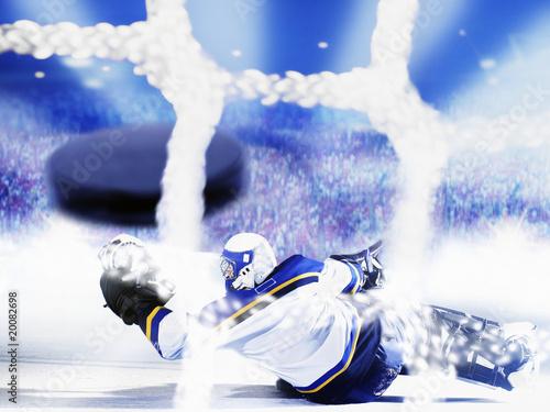 eishockey torwart Canvas Print