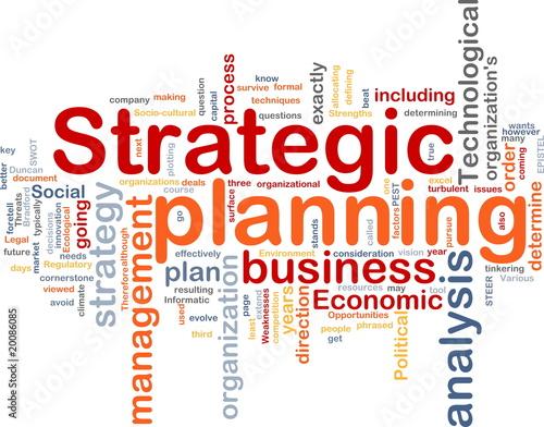 Fotografía  Strategic planning word cloud