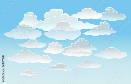 Papiers peints Ciel vector background with sky and clouds. eps10