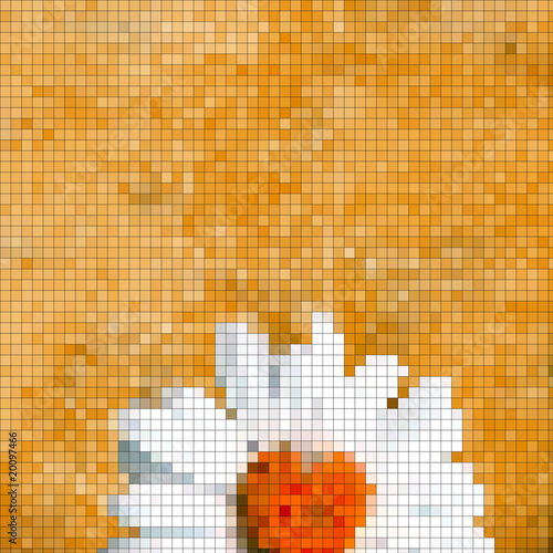 Foto op Aluminium Pixel fondo margarita mosaicos